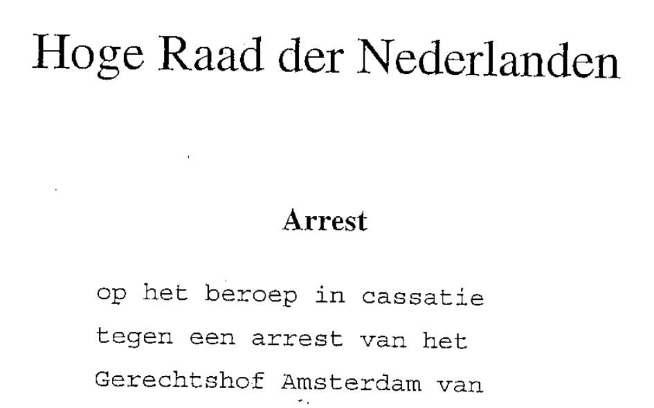 Arrest van de Hoge Raad